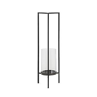 Light & Living Hurricane 18.5x16.5x59cm - Aalborg Antique Black And Glass