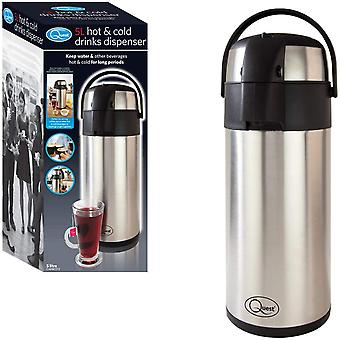 Quest 5 Litre Stainless Steel Hot & Cold Drink Dispenser