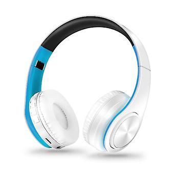 ZAPET Wireless Headphones Bluetooth Wireless Headphones Stereo Gaming Blue-White
