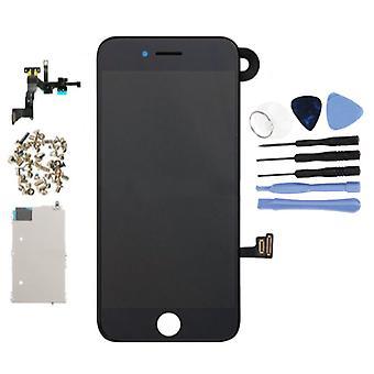 Stuff Certified® iPhone 7-esiasennettu näyttö (kosketus näyttö + LCD + osat) A + laatu-musta + työkalut