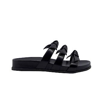 Alexandre Birman Lolitapoolblack Women's Black Læder Sandaler