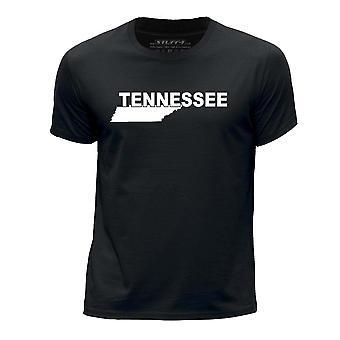 STUFF4 Boy's Round Neck T-Shirt/USA State / Tennessee /Black