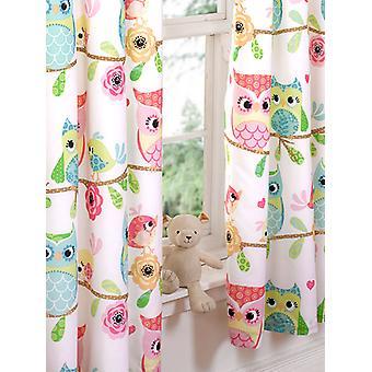 Ugle og venner foret gardiner