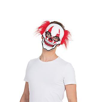 Horror Clown schedel masker (G/V)