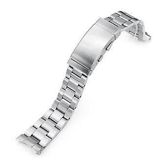 Strapcode ساعة سوار 20mm سوبر 3D المحار 316l الفولاذ المقاوم للصدأ سوار ووتش لseiko كوكتيل ssa345، مشبك السقاطة الرطب، نحى