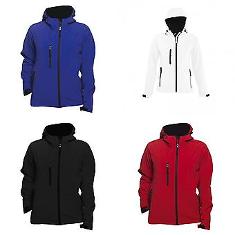 SOLS Womens/Ladies Replay Hooded Soft Shell Jacket (Breathable, Windproof And Water Resistant)