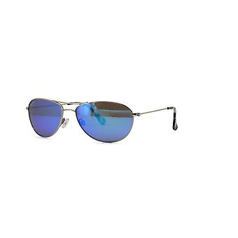 Maui Jim Baby Beach B245 17 Silver/Blue Hawaii Glasses