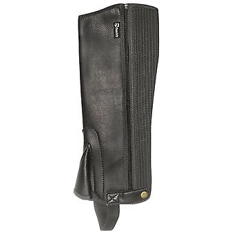 Requisite Kids Childs Synthetic Half Chaps Zip Press Stud Fastening