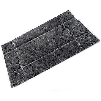 Orla grijs leisteen volledige Rubber back microvezel Single Bad Mat 50 x 80 cm