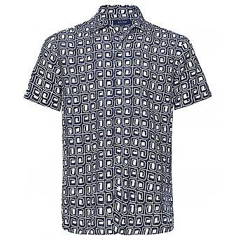Eton Linnen Korte Mouw Resort Shirt