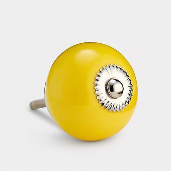 Keramische deurknop - Geel