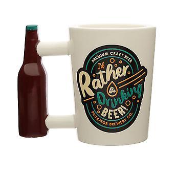Puckator Drinking Beer Shaped Handle Mug