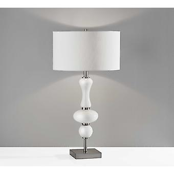 Lámpara de mesa glam Spherule Milky White Glass