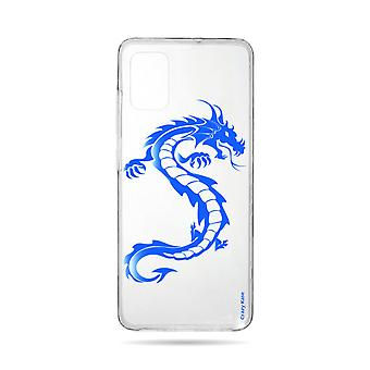 Runko Samsung Galaxy A71 Pehmeä sininen lohikäärme