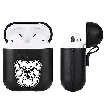 Butler Bulldogs NCAA Fan Brander Zwart lederen AirPod Case