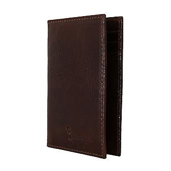 Brown leather bifold-wallet