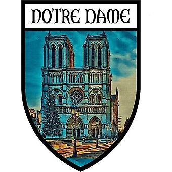 ملصقا ملصقا الفينيل معطف من الأسلحة باريس تذكار سيدتنا