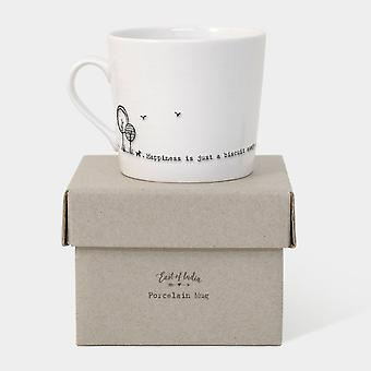 Porcelain Coffee Mug East Of India   Happiness Is   Friendship Boxed Gift