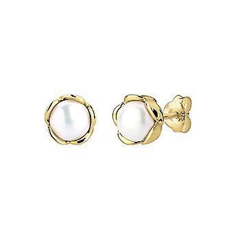 Elli korva korut naisten keltainen 9 k helmiä viljellyt helmet d ' makea vesi