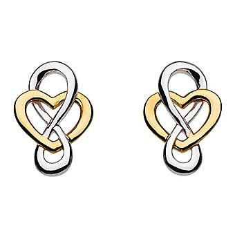 Heritage - Stud earrings - sterling silver - pattern: heart and Celtic knot - Silver - color: Yellow gold - code 4207GD