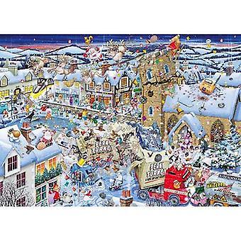 جيبسون أحب عيد الميلاد اللغز بانوراما (1000 قطعة)