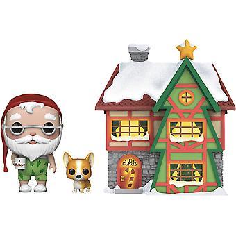 Peppermint Lane Santa, Nutmeg et Light Up House Pop! Ville