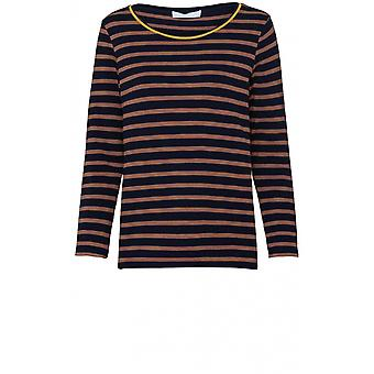 Bianca Striped Jersey Top