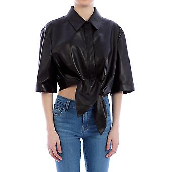 Off-white Owje001r20f990681000 Women's Black Leather Shirt