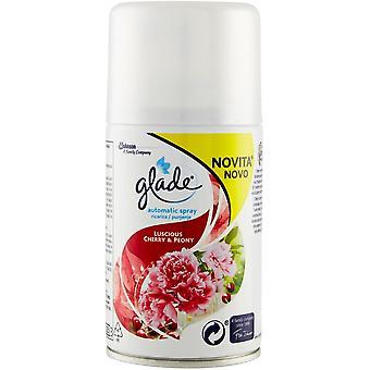 4 x Glade Automatic Spray Refill 269ml - Cherry & Peony