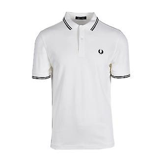 Fred Perry Twin Tippet Polo Skjorte Snøwht/grph/blk