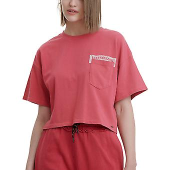 Funky Buddha Women's Cropped T-Shirt With Logo Across The Chest