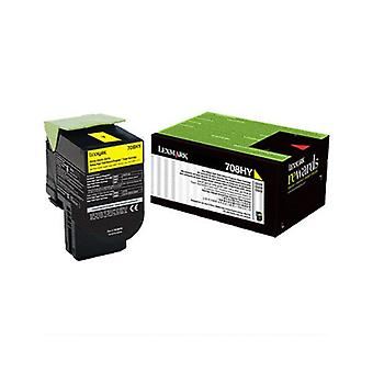 Lexmark 708Xye Yellow Extra High Yield Corporate Toner Cartridge