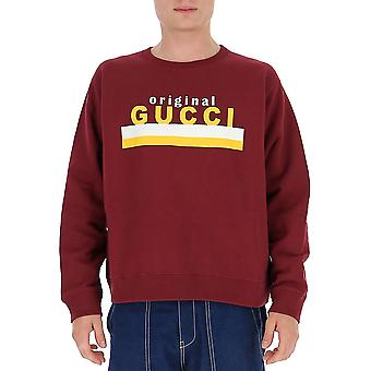 Gucci 626990xjcor6417 Men's Burgundy Cotton Sweatshirt