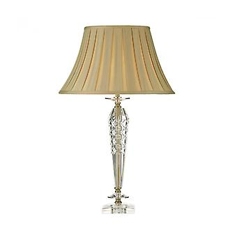 Nell Crystal And Antique Brass Table Lamp 1 Bulb