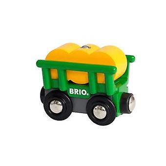 BRIO Hay Wagon 33895 drewnianych kolejowych dodatkowych wagonów
