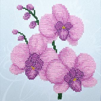 VDV Bead Embroidery Kit - Pink Orchid