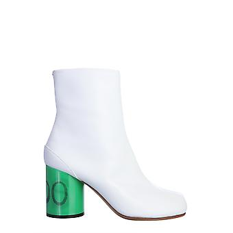 Maison Margiela S58wu0260p3158h7990 Women's White Leather Ankle Boots