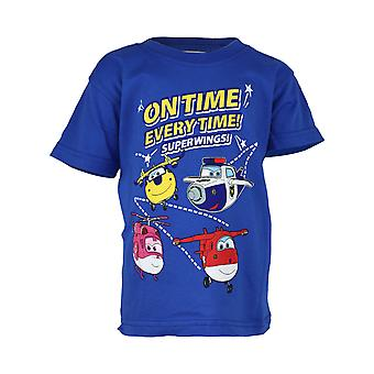 Super Wings On Time Every Time Girls T-Shirt | Official Merchandise