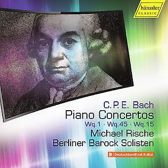 Bach, C.P.E. / Rische / Solisten - Piano Concertos 5 [CD] USA import