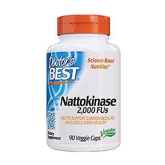 Nattokinase, 2000 FUs 90 plantaardige capsules