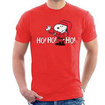 Jordnötter Snobben i en Santa Suit Ho Ho Ho Män & Apos; s T-shirt