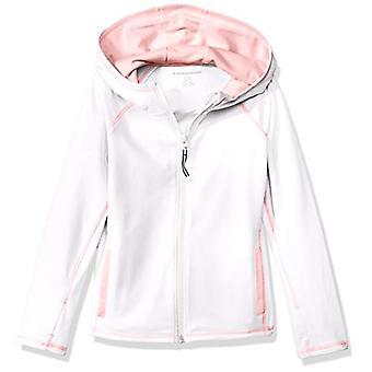 Essentials Girls' Fuld-Zip Active Jacket, Hvid, S (6-7)