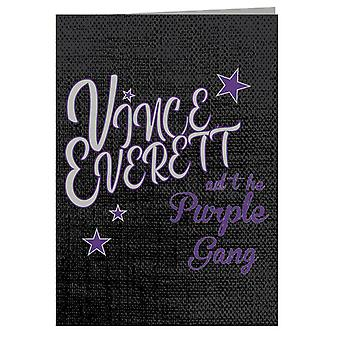 Jailhouse Rock Vince Everett And The Purple Gang Greeting Card