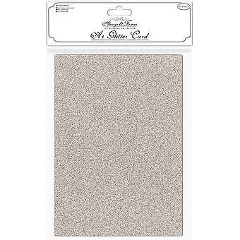 Craft Consortium Glitter Card A4 Champagne