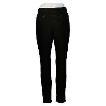 Belle by Kim Gravel Women's Petite Pants Jeggings W/ Pockets Black A300368