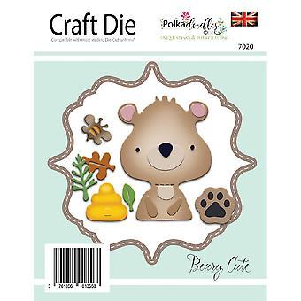 Polkadoodles Beary Cute Dies