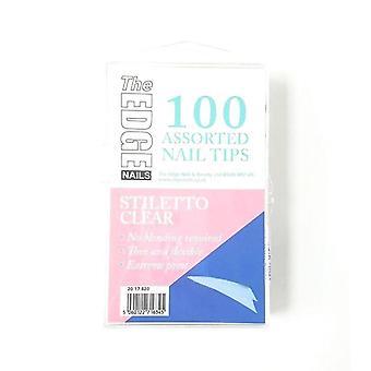 The edge clear stiletto tips 100 asstd