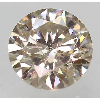 Cert 0.50 TL براون VVS2 جولة رائعة المحسنة الماس الطبيعي 5.09mm EX CUT
