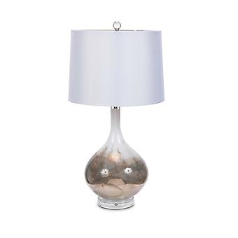 S/2 מנורת שולחן זכוכית אמנותית