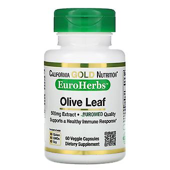 California Gold Nutrition, Olive Leaf Extract, EuroHerbs, European Quality, 500